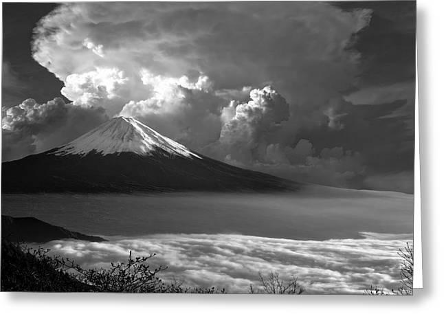 Mt. Fuji Of Japan Greeting Card by Daniel Hagerman