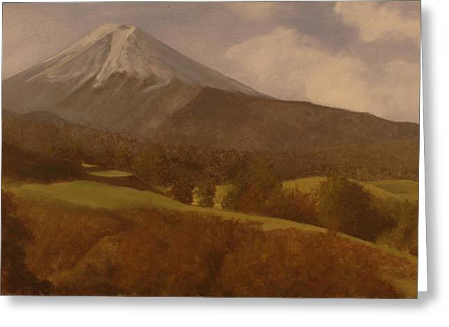 Mt. Fuji Greeting Card by Rick Fitzsimons