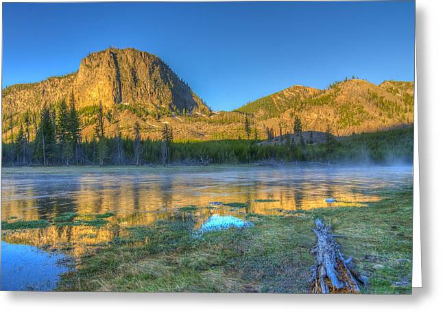Mt. Hayes Alpine Glow Yellowstone National Park Greeting Card