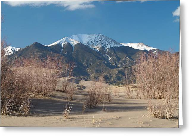 Mt. Herard And The Sand Dunes Colorado Greeting Card