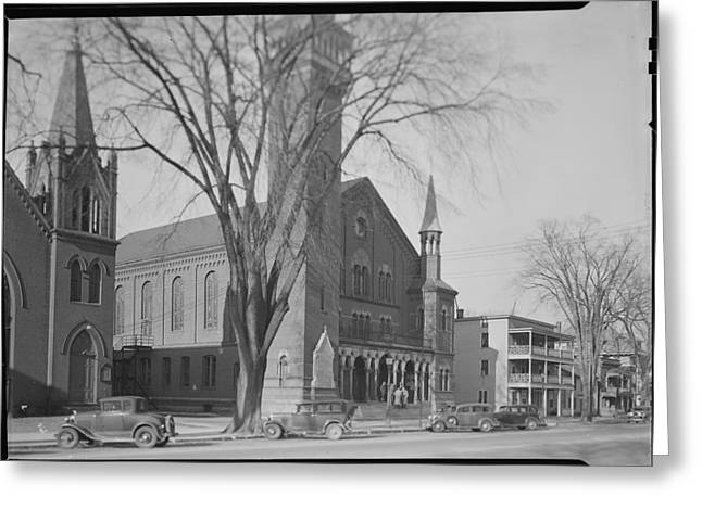 Mount Holyoke Town Hall Greeting Card