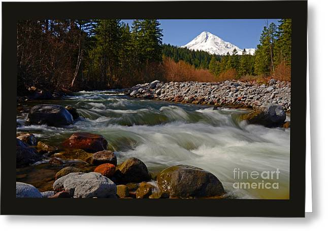 Mt. Hood Landscape Greeting Card by Nick  Boren