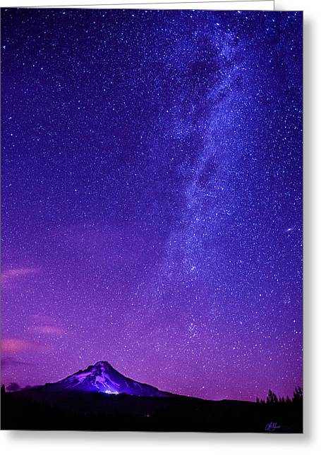 Mt. Hood Milky Way 01 Greeting Card by Lori Grimmett