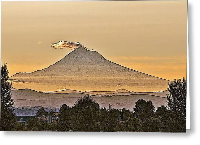 Mt Hood Sunrise Greeting Card by Larry Darnell