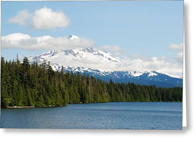 Mt Hood View From Lost Lake Greeting Card by Robert  Moss