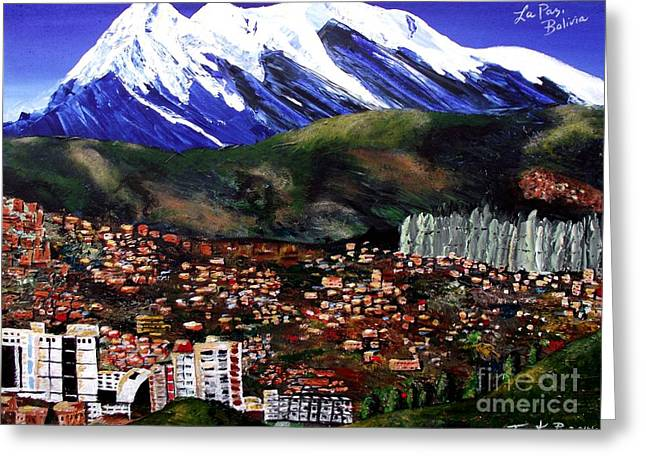 Mt Illimani La Paz Bolivia Greeting Card