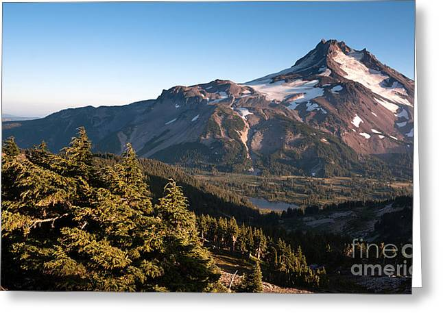 Mt. Jefferson Park Oregon Cascade Range Mountian Hiking Trail Greeting Card by Christopher Boswell