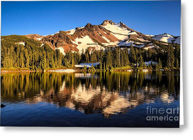 Mt. Jefferson Reflected In Alpine Lake Greeting Card