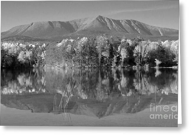 Mt Katahdin Baxter State Park Fall Greeting Card