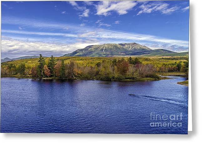 Mt Katahdin Hdr Greeting Card