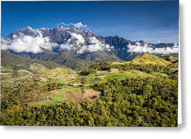 Mt. Kinabalu - The Highest Mountain In Borneo Greeting Card by Veronika Polaskova