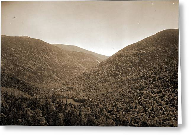 Mt. Lafayette And Franconia Notch From Bald Mtn, White Greeting Card