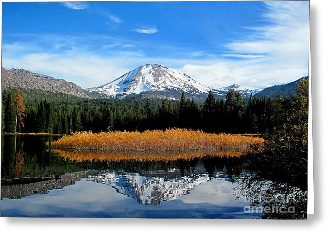 Mt. Lassen Reflection Greeting Card by Irina Hays