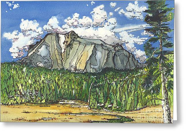 Mt Lassen Greeting Card by Terry Banderas