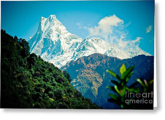 Mt Machapuchare Or Fish Tail Nepal Artmif Greeting Card