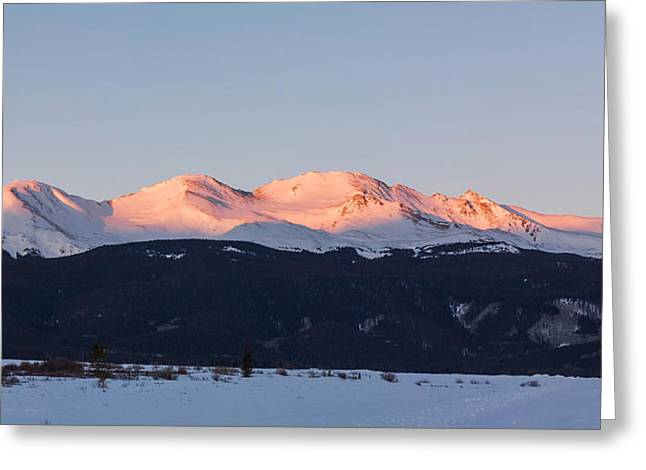 Mt. Massive Greeting Card by Aaron Spong