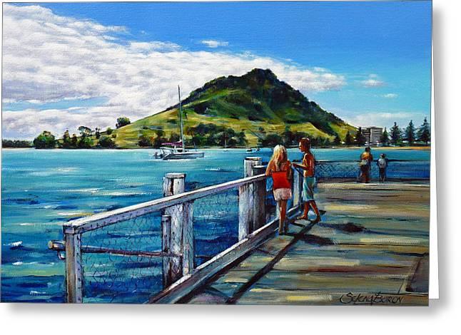 Mt Maunganui Pier 140114 Greeting Card