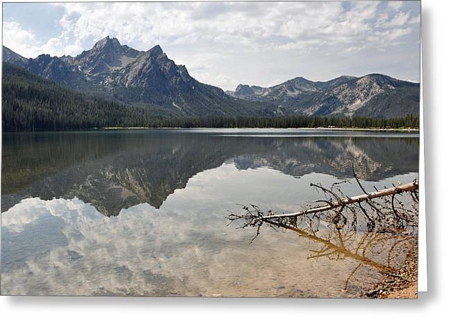 Mt. Mcgowan Reflected In Stanley Lake Greeting Card