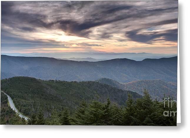 Mt Mitchell Sunset Blue Ridge Parkway Greeting Card by Dustin K Ryan