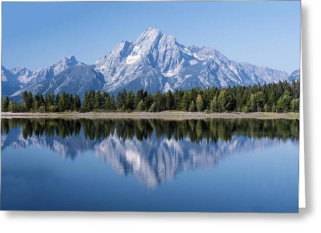 Mt. Moran At Grand Tetons With Reflection In Lake Greeting Card