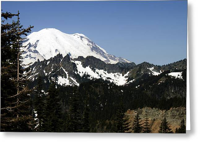 Mt Rainer From Wa-410 Greeting Card