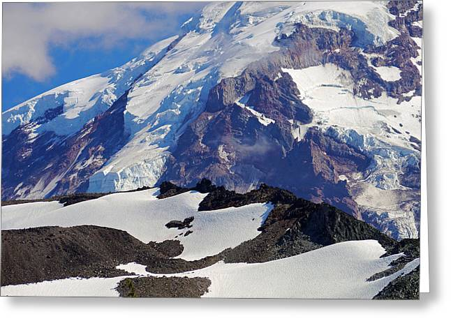 Mt Rainier From Spray Park Greeting Card by Scott Nelson