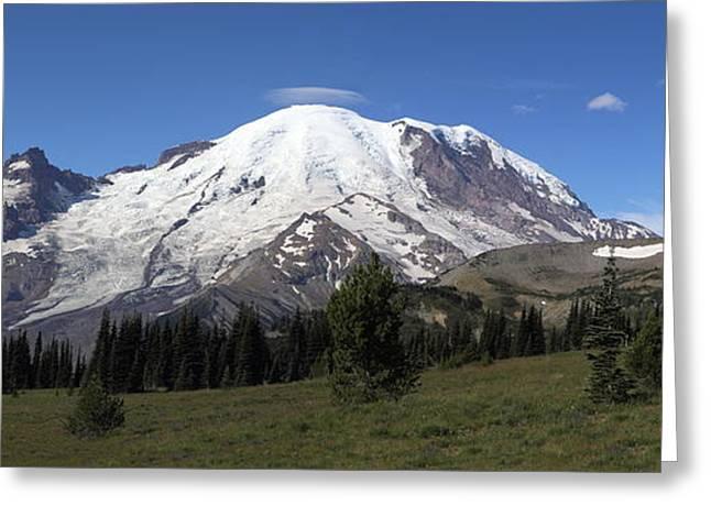 Mt Rainier From Sunrise Park Greeting Card