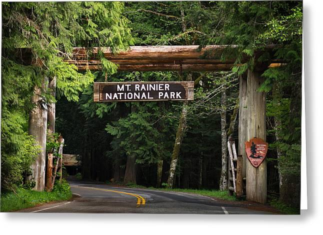 Mt Rainier Gateway Greeting Card by Steve Gadomski
