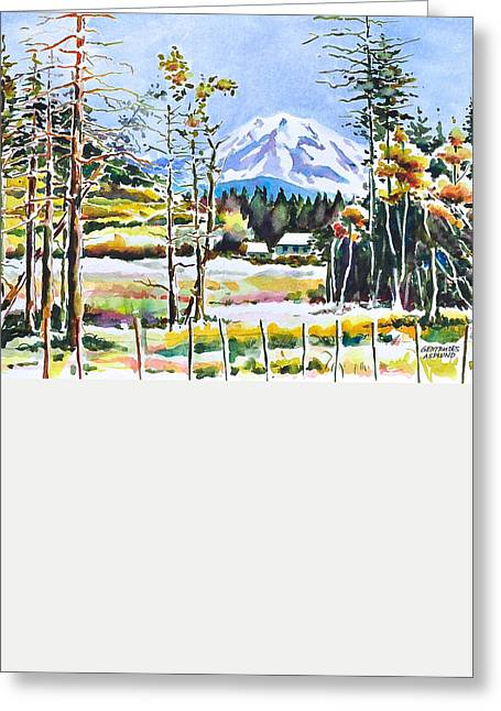 Elk Head On Mt Rainier  Greeting Card