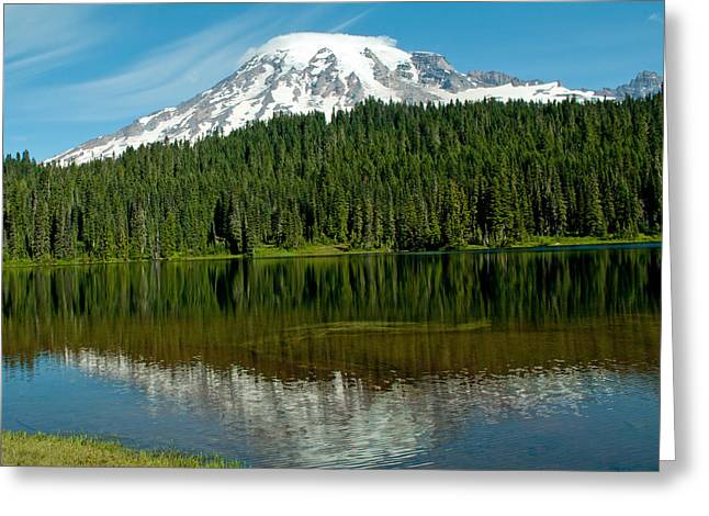 Greeting Card featuring the photograph Mt. Rainier II by Tikvah's Hope