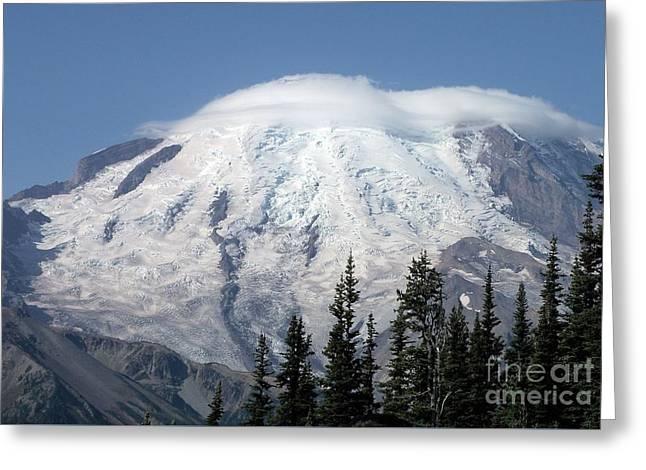 Mt. Rainier In August 2 Greeting Card