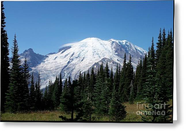 Mt. Rainier In August Greeting Card by Chalet Roome-Rigdon