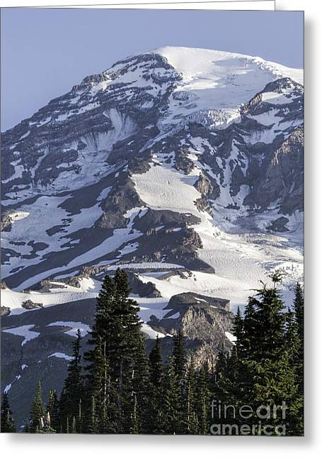 Mt Rainier Portrait Greeting Card
