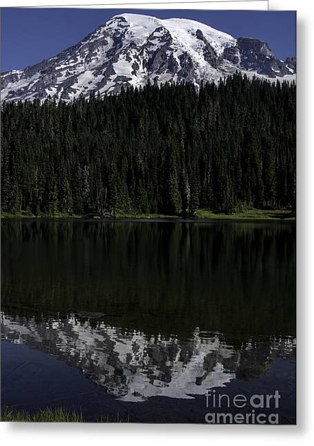 Mt Rainier Reflected In Reflection Lake Greeting Card