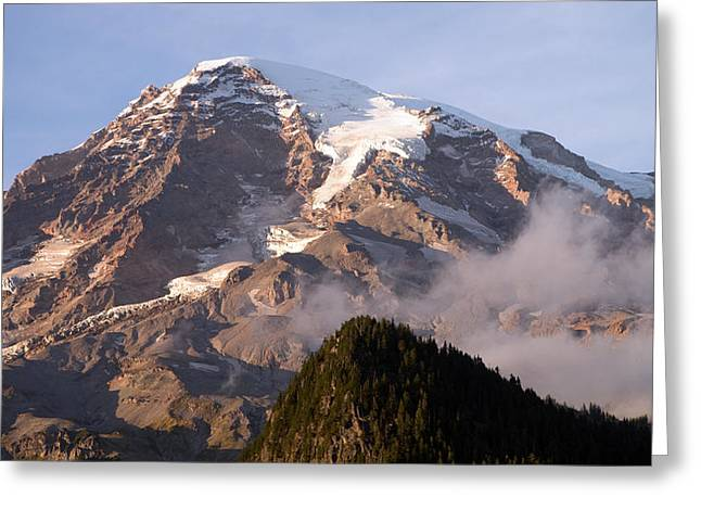 Mt Rainier Sunset Greeting Card by Scott Nelson