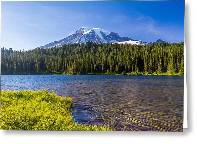 Mt Rainier Viewpoint Greeting Card