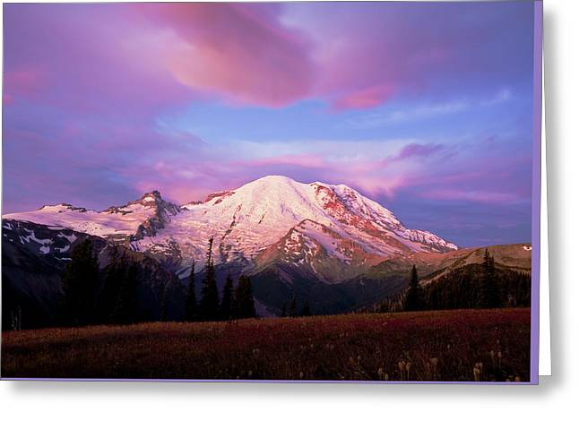 Mt. Ranier Dawn Greeting Card by Randolph Fritz