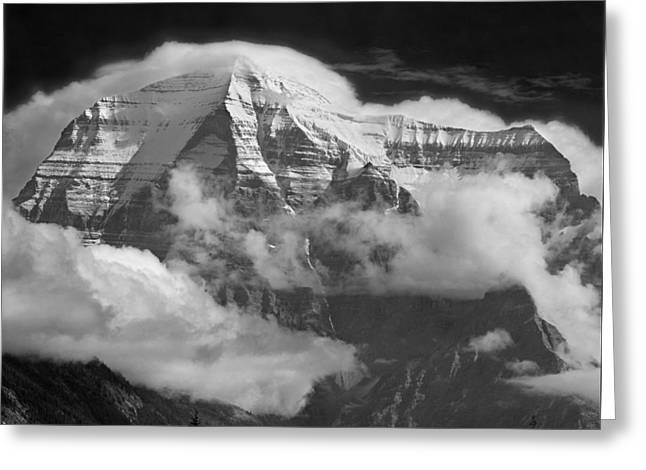 102496-mt. Robson Wreathed In Clouds Greeting Card