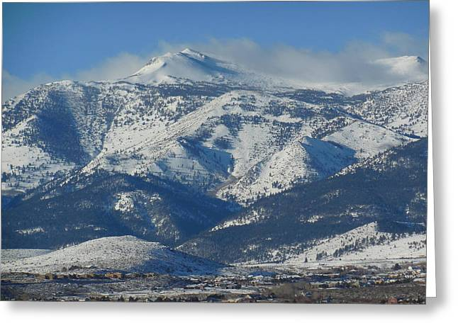 Mt Rose Reno Nevada Greeting Card