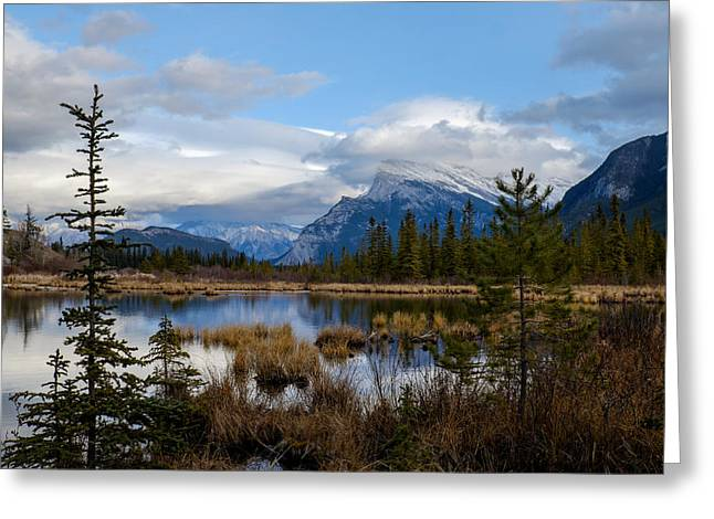 Mt Rundel Over The Lake Greeting Card