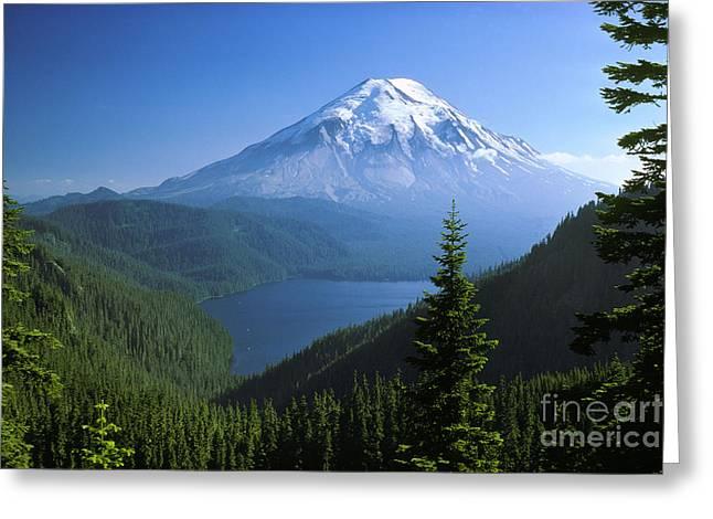 Mt. Saint Helens Greeting Card by Thomas & Pat Leeson