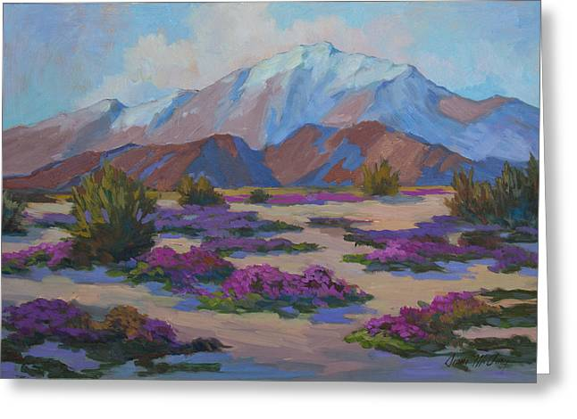 Mt. San Jacinto And Verbena Greeting Card by Diane McClary