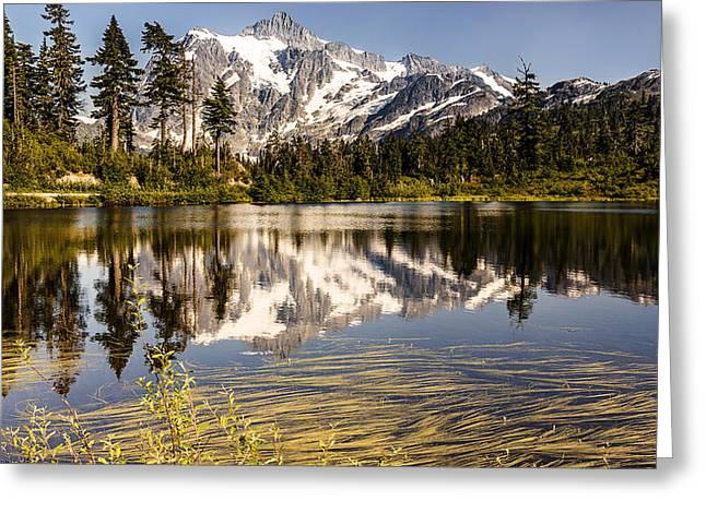 Mt Shuksan Reflection Greeting Card