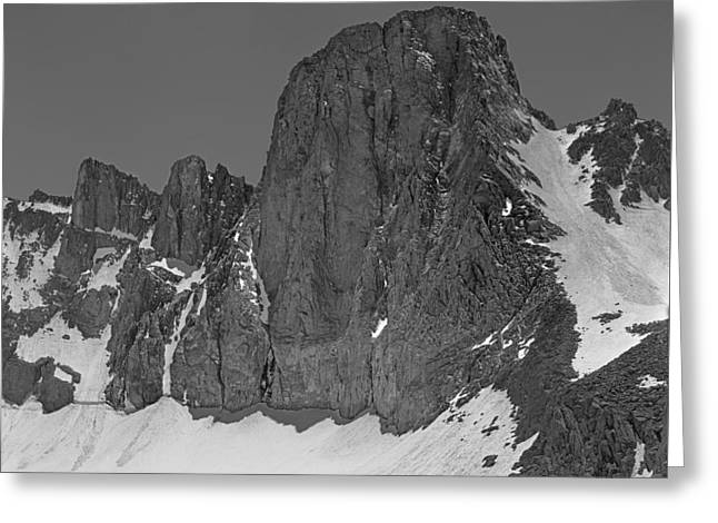 406427-mt. Sill, Bw Greeting Card