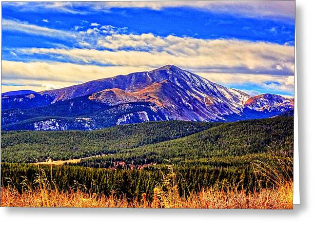 Greeting Card featuring the photograph Mt. Silverheels II by Lanita Williams