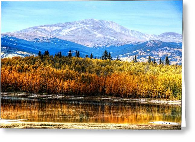 Greeting Card featuring the photograph Mt. Silverheels With Aspens by Lanita Williams