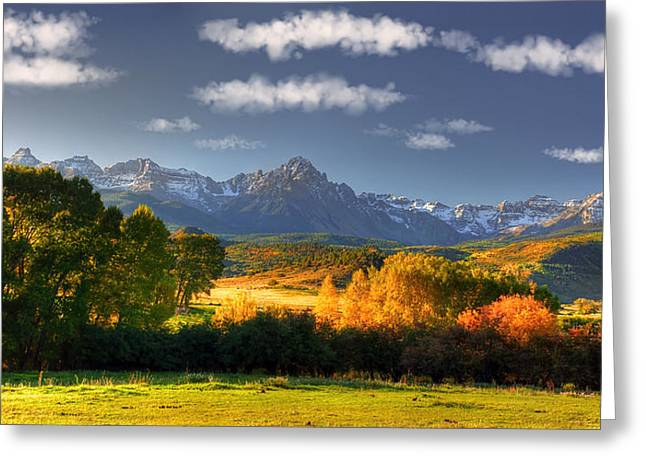 Mt Sneffels And The Dallas Divide Greeting Card by Ken Smith