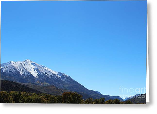 Mt. Sopris Greeting Card