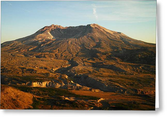 Mt St Helens From Johnsons Observatory Greeting Card by Jeff Swan
