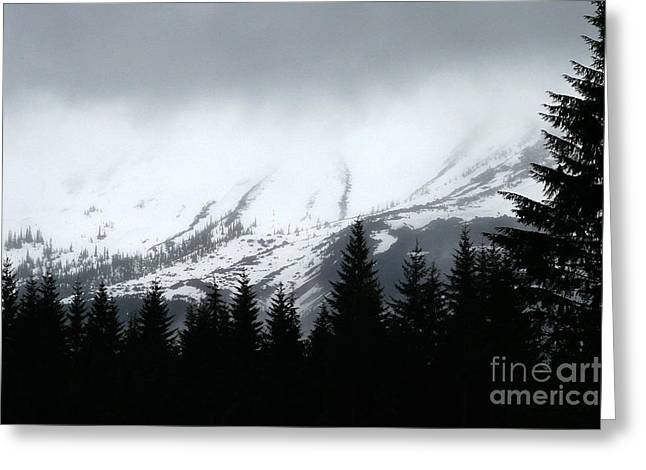 Mt St Helens........a Looming Storm Greeting Card by Rich Collins